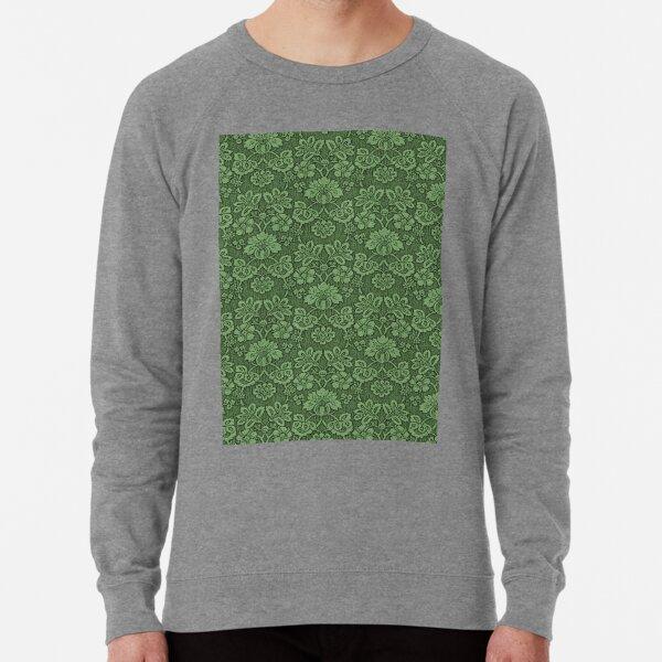 GREEN DAMASK Pop Art Lightweight Sweatshirt