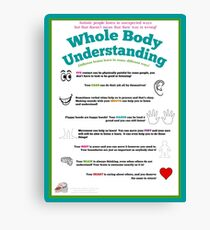 Whole Body Understanding Poster (Autism) Canvas Print