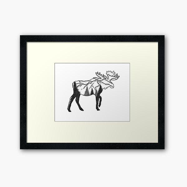 Moose Mountain Scene Framed Art Print