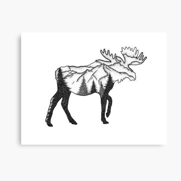 Moose Mountain Scene Canvas Print