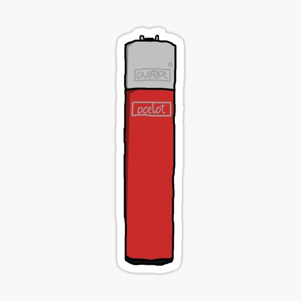 Clipper Lighter Red Sticker