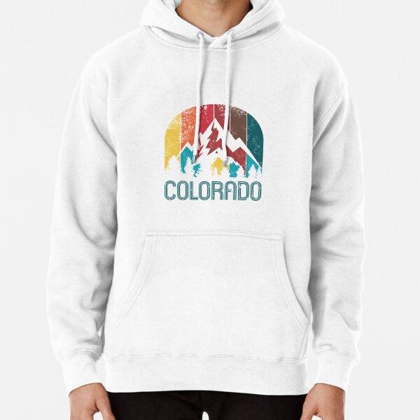 Retro Colorado Design for Men Women and Kids Pullover Hoodie