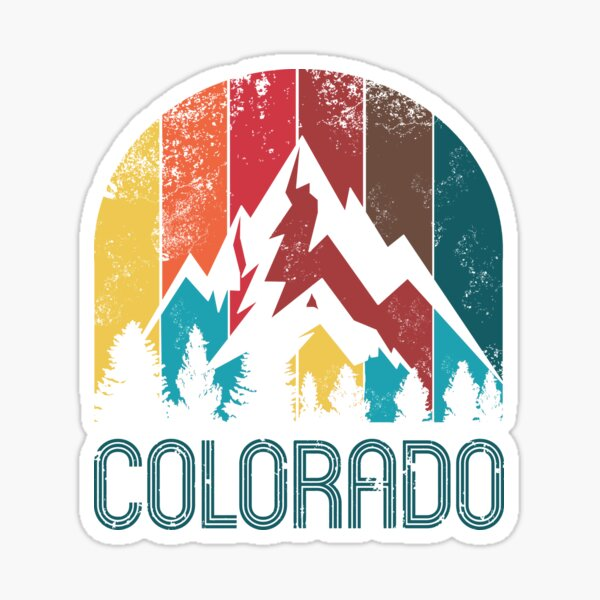 Retro Colorado Design for Men Women and Kids Sticker
