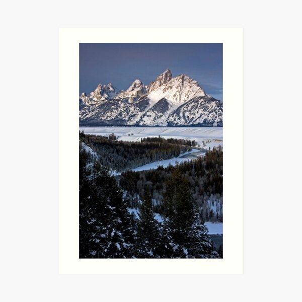 Snake River Overlook, Jackson Hole, Wyoming Art Print
