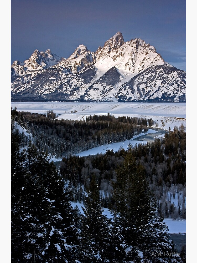 Snake River Overlook, Jackson Hole, Wyoming by annruttle