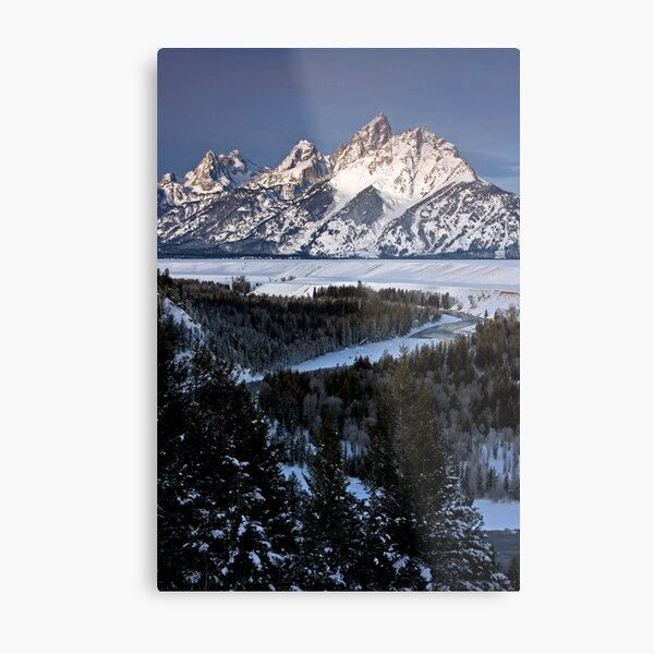 Snake River Overlook, Jackson Hole, Wyoming Metal Print