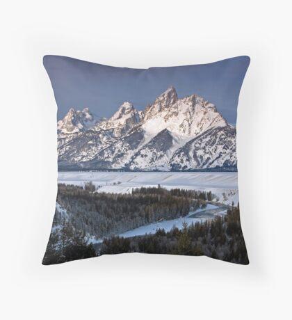 Snake River Overlook, Jackson Hole, Wyoming Throw Pillow