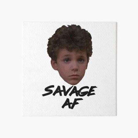 Savage AF As Fred The Wonder Years 80s 90s Kevin Arnold Funny Gift Art Board Print
