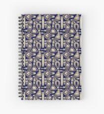 Lightbulb Pattern Spiral Notebook