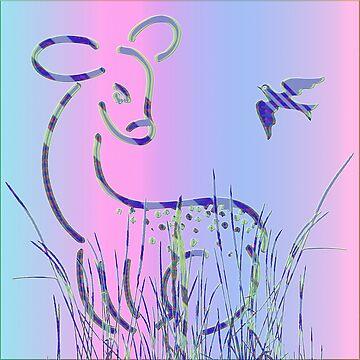 Bambi and Bird von fuxart