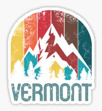 Retro Vermont Design for Men Women and Kids Sticker