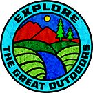 Explore The Great Outdoors Nature Hiking Camping Climbing Biking by MyHandmadeSigns