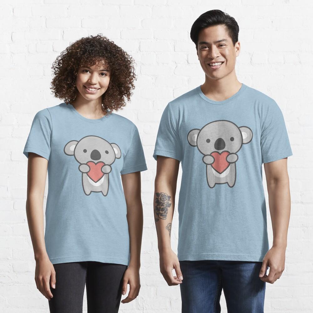 Kawaii linda koala con el corazón Camiseta esencial