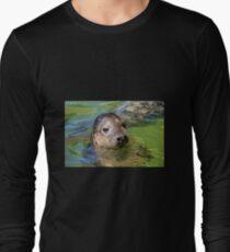 Cheeky Seal At Gweek Long Sleeve T-Shirt