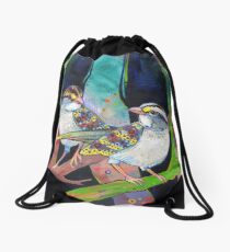 White-throated sparrows painting - 2012 Drawstring Bag