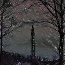 Wainhouse Tower - Chalk Effect by Glen Allen