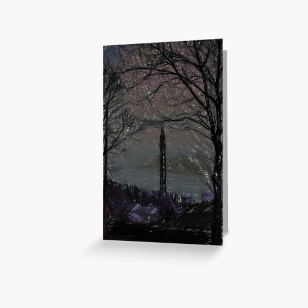 Wainhouse Tower - Chalk Effect Greeting Card