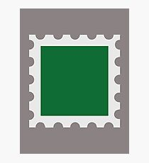 Green stamp Photographic Print