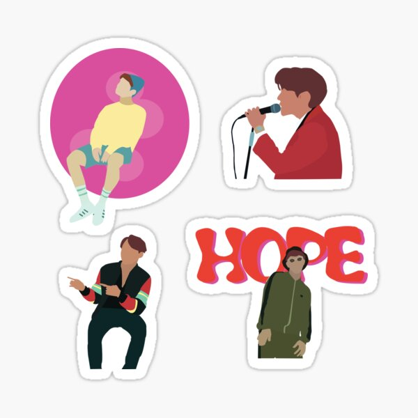 BTS J-Hope-Mixtape Pegatina