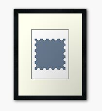 Grey stamp Framed Print
