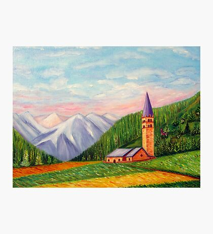 Landscape painting Photographic Print