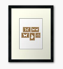 Butterfly stamp collection Framed Print
