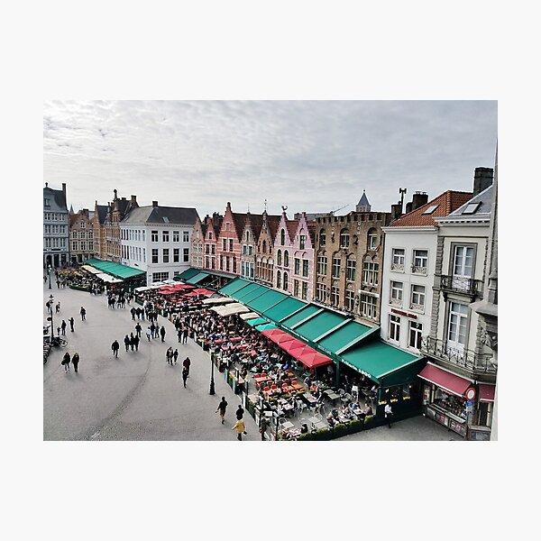 Market Square, Brugge, Belgium Photographic Print