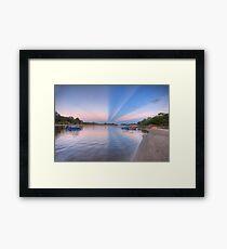Anti-crepuscular Rays-2000 Framed Print