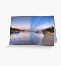 Anti-crepuscular Rays-2000 Greeting Card