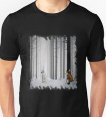 Calvin and Hobbes in Snow Unisex T-Shirt