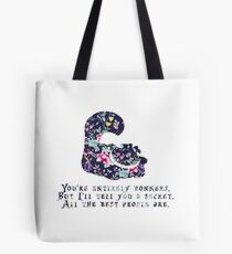 Alice floral designs - Cheshire cat entirely bonkers Tote Bag