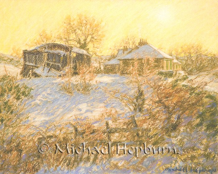 Winter Light - Spango Valley by michaelhepburn