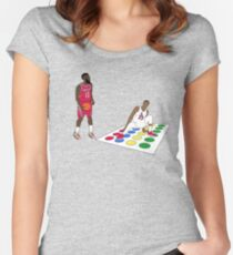 Twister Staredown 1 Women's Fitted Scoop T-Shirt