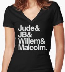 TEAM JUDE Women's Fitted V-Neck T-Shirt