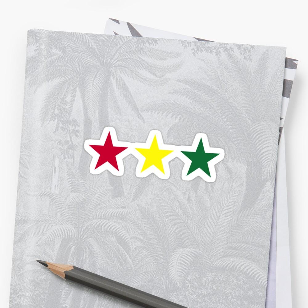 Reggae flag stars par designzz