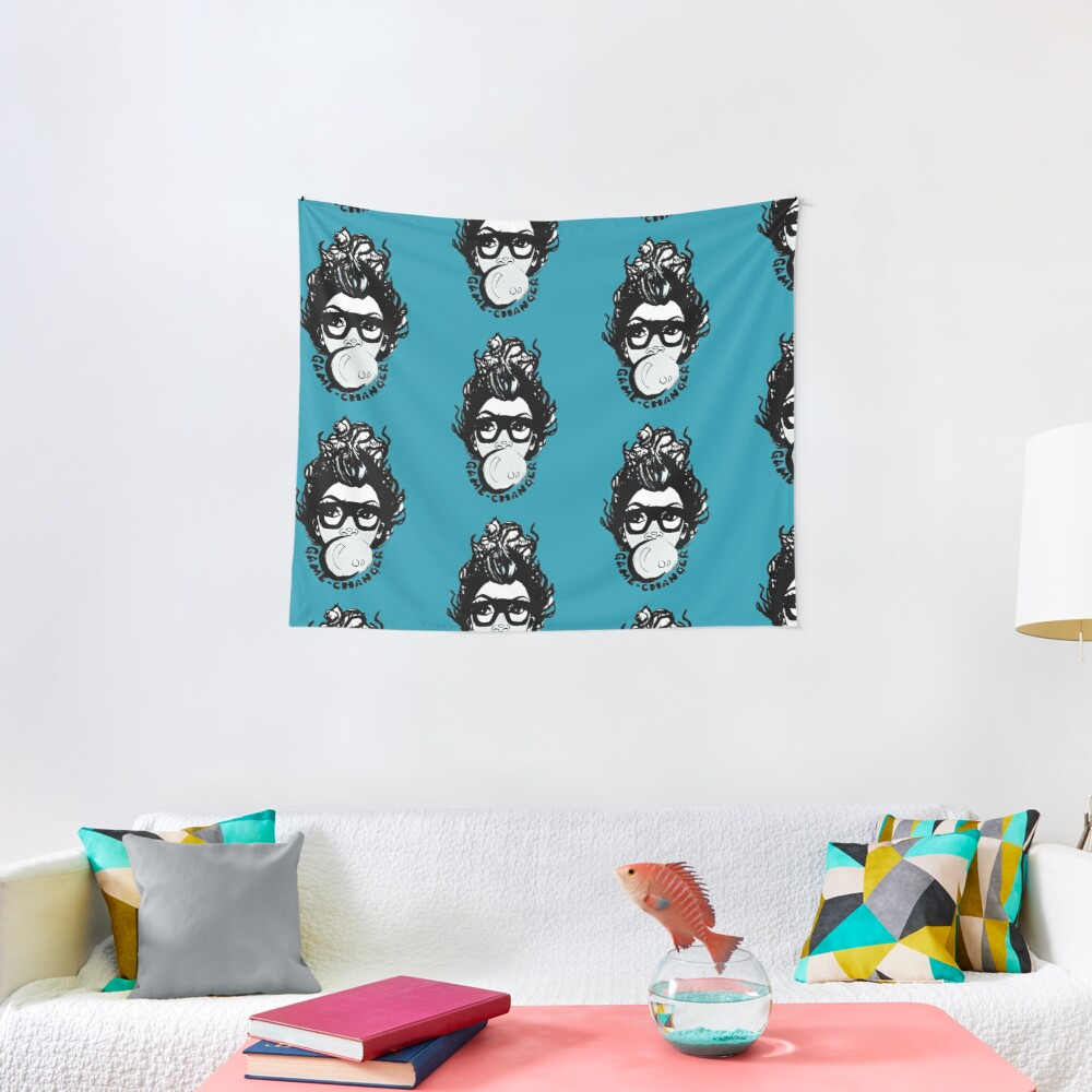 Afro Black Short Fro Bubble Gum Natural Hair Diva Tapestry
