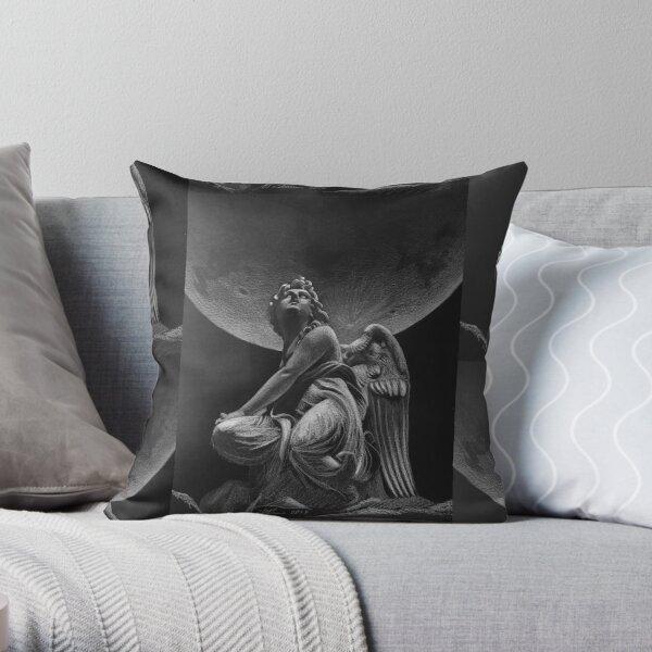 Angel under the Super Moon Throw Pillow
