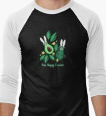 Avo Hoppy Easter | Avocado Easter Bunnies Men's Baseball ¾ T-Shirt