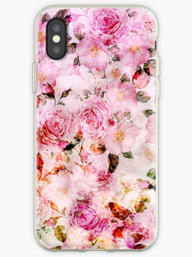 eaa079c3348 Vinilos y fundas para iPhone «Elegante estampado de flores vintage ...