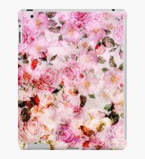Vinilo o funda para iPad Elegante estampado de flores vintage de color rosa femenino
