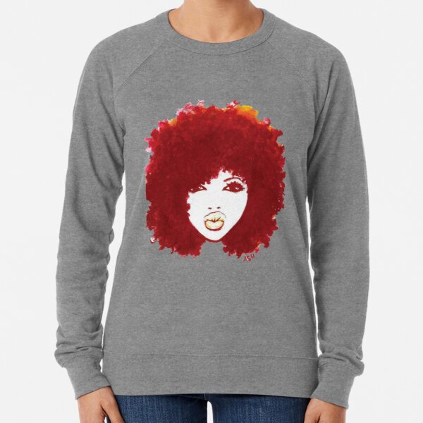 Curly Afro Autumn Proud Of Natural Hair T-Shirt Lightweight Sweatshirt
