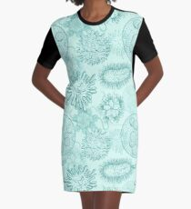 Seamless pattern with microbes and viruses. Graphic T-Shirt Dress