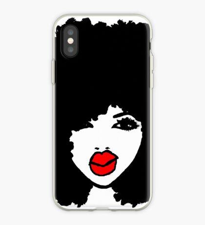 Natürliches Haar lockiges Haar schwarzer Afro iPhone-Hülle & Cover