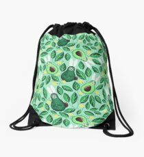 Avo Hoppy Easter | Avocado Easter Bunnies Drawstring Bag