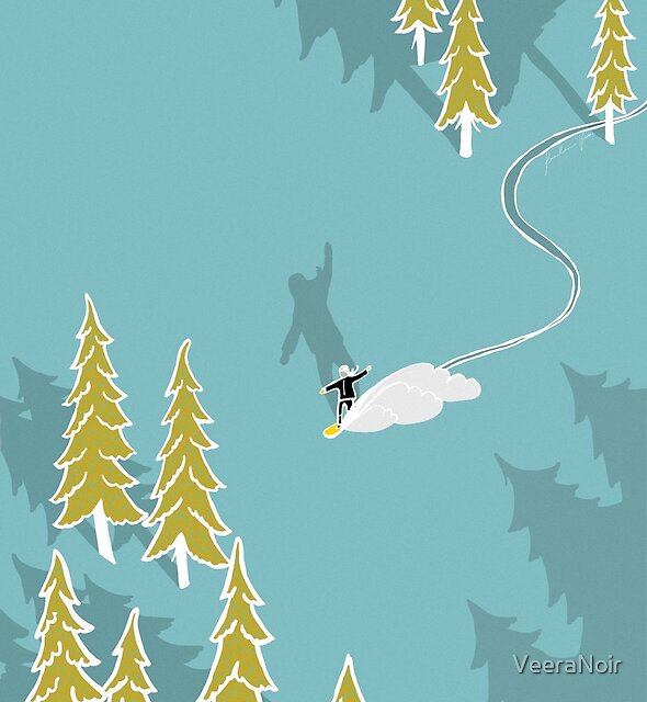 Mädchen Snowboarden von VeeraNoir