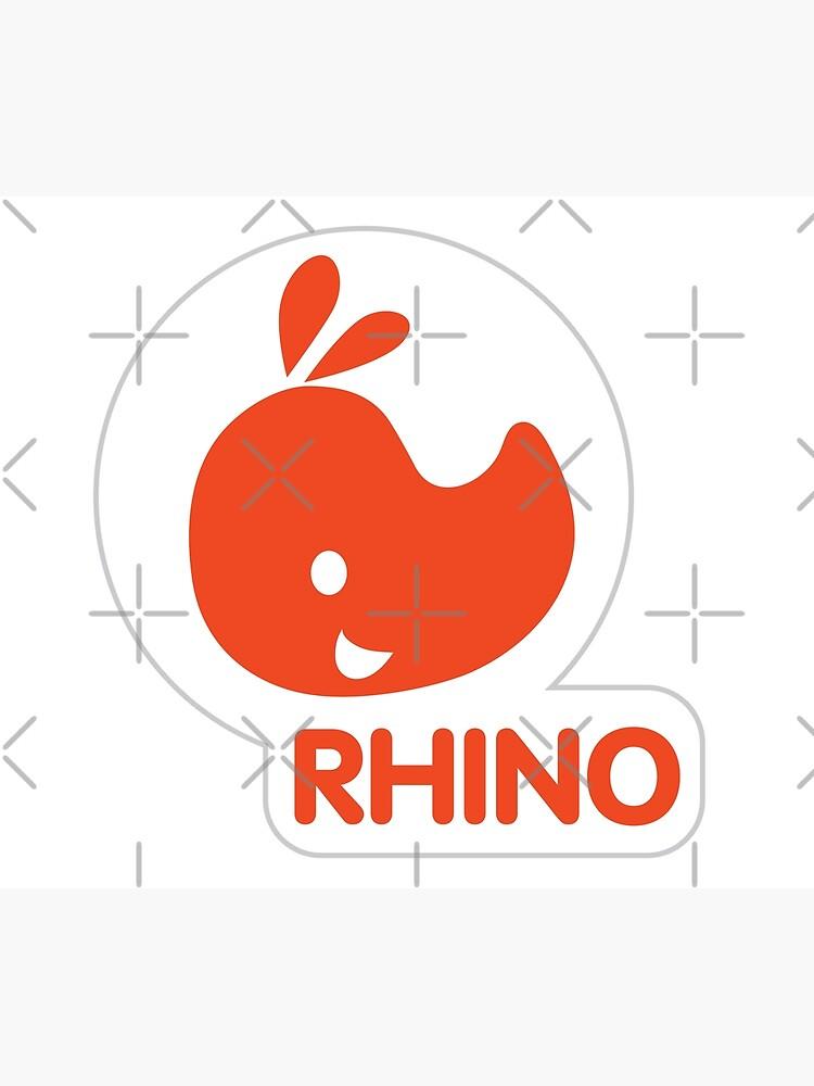 emblem of a red rhinoceros by duxpavlic