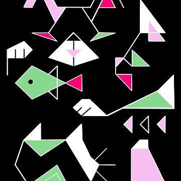 Cat Triangles by kookylane