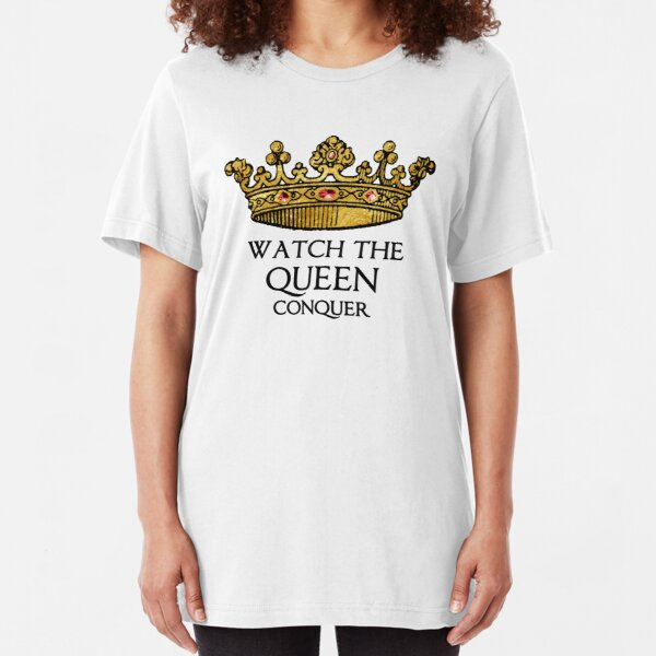 Watch the QUEEN Conquer (Crowing Glory Ver2) Slim Fit T-Shirt