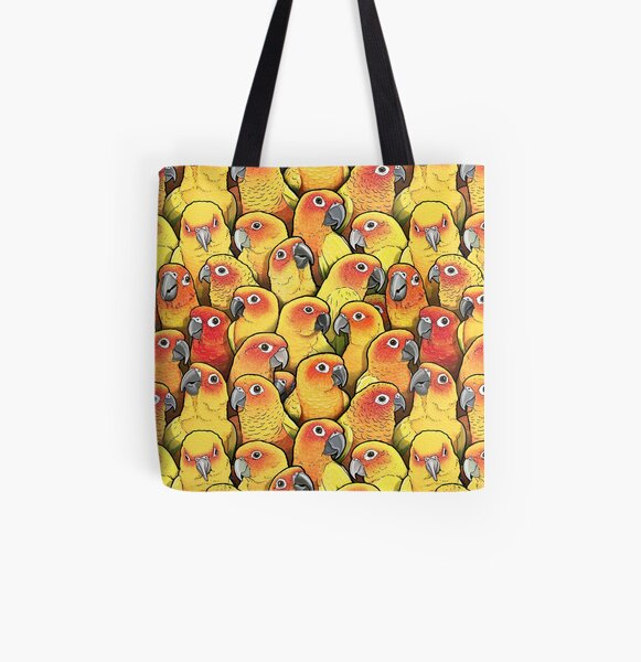 Sun Conures All Over Print Tote Bag