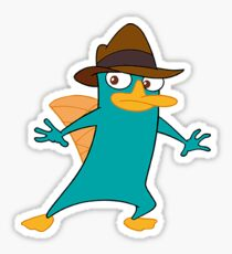 Perry the Platypus Sticker Sticker